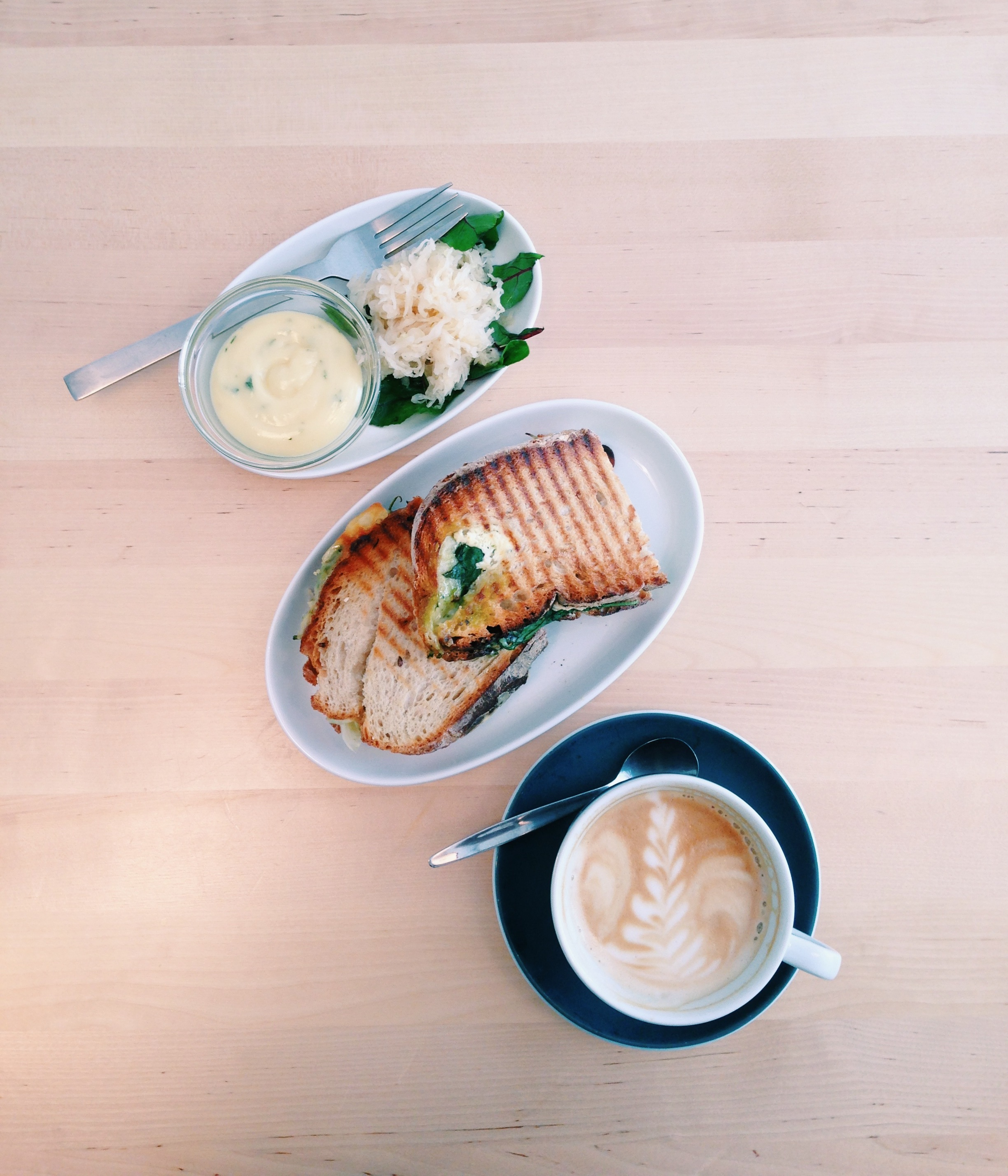 At Drop Coffee, cafe and coffee roastery. Sweden knwos their sandwiches and strong coffee.